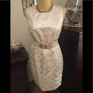 Trina Turk Gold & Silver Shift Dress